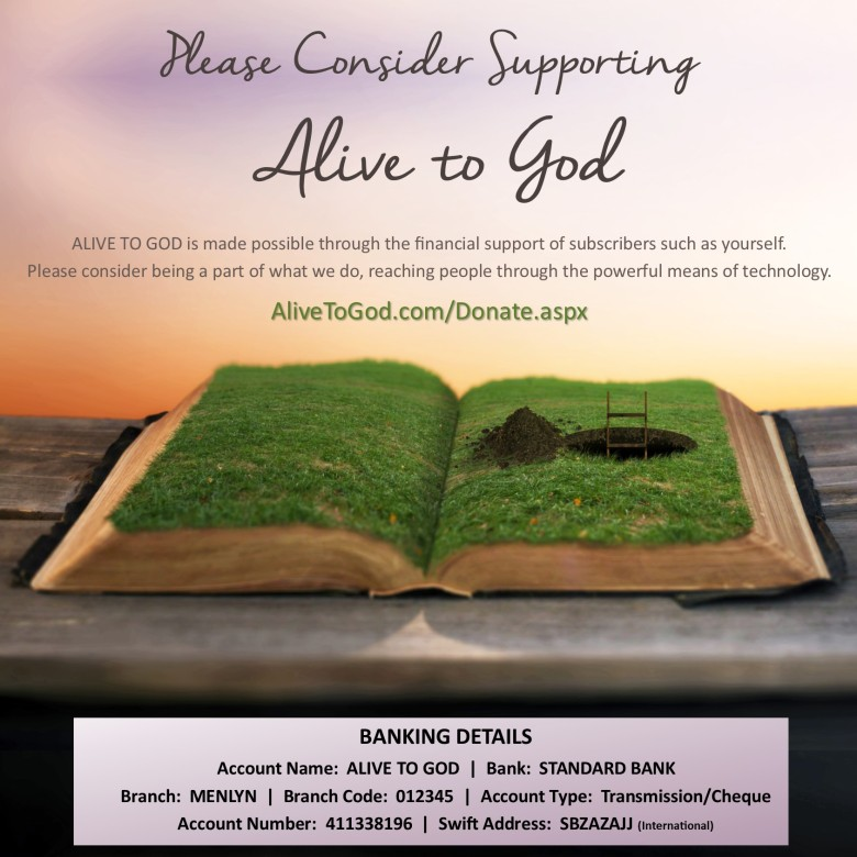 Support Alive To God July 2016